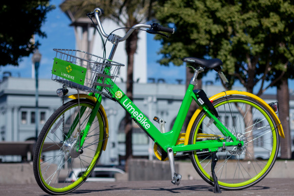 What are these green bikes doing all over town?